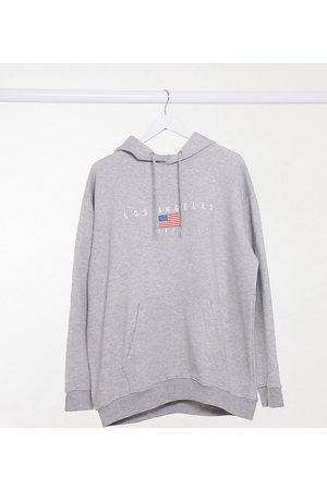 Daisy Street Plus Oversized hoodie with los angeles print