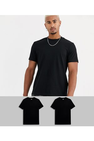 ASOS 2 pack organic t-shirt with crew neck