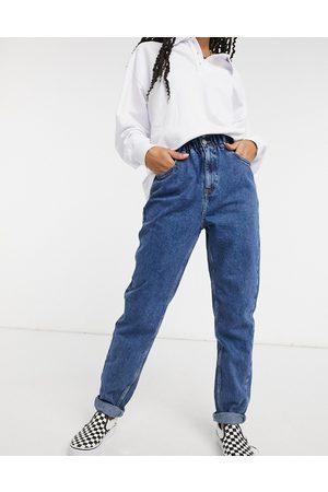 New Look Paperbag waist jean in mid