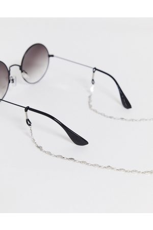 ASOS Slim glasses chain with ditsy leaf in burnished tone