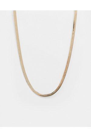 ASOS Necklace in 4mm herringbone chain in tone