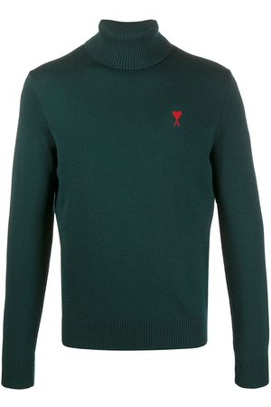 Ami Turtle neck jumper de Coeur embroidery