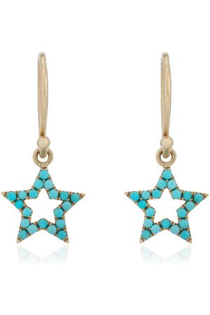 ROSA DE LA CRUZ Turquoise star earrings