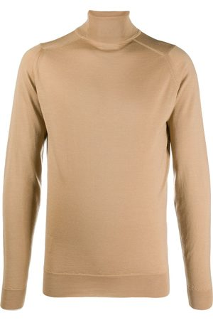 JOHN SMEDLEY Roll-neck fitted jumper