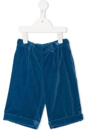 SIOLA Ruched velvet shorts
