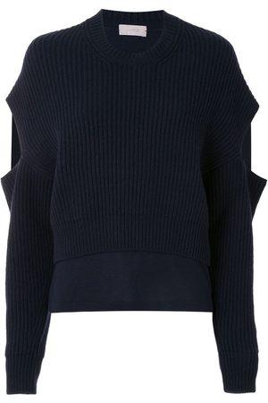 MRZ Cut-out sleeve crewneck jumper
