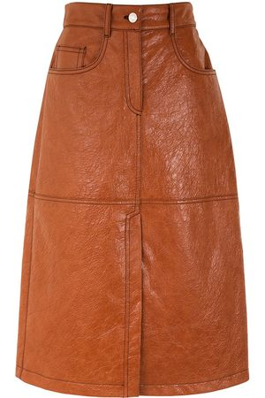 Msgm Faux leather midi-skirt