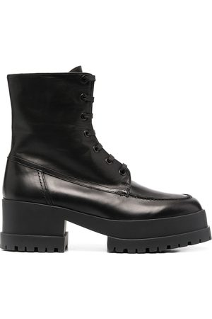 Robert Clergerie Lace-up track sole boots