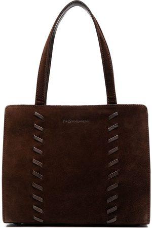 Yves Saint Laurent Women Handbags - Whipstitch-detail tote bag