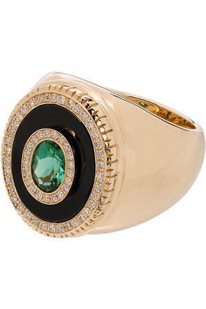 O THONGTHAI 14K yellow tourmaline diamond ring