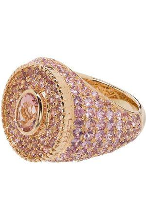 O THONGTHAI 14K yellow gold sapphire ring
