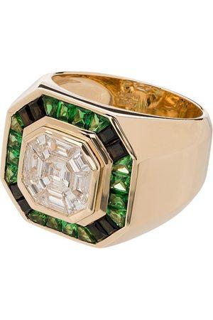 O THONGTHAI 14K yellow tsavorite diamond ring