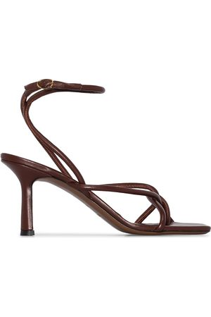 Neous Ankle strap 80mm leather sandals