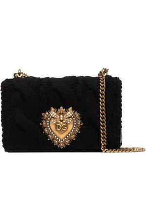 Dolce & Gabbana Devotion knit small shoulder bag