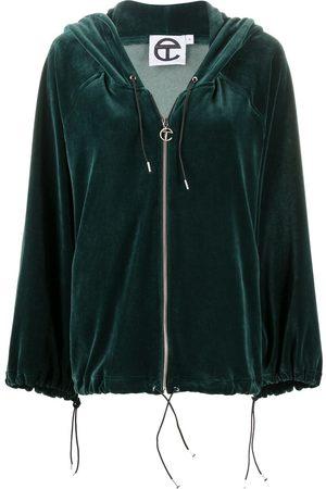 TELFAR Long-sleeve velvet hoodie