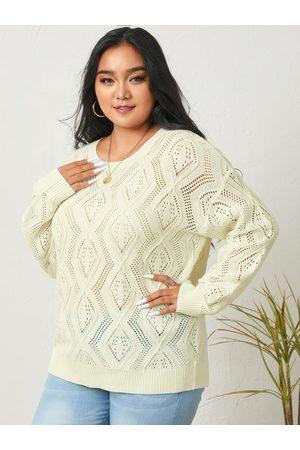 YOINS Plus Size Hollow Design Long Sleeves Sweater