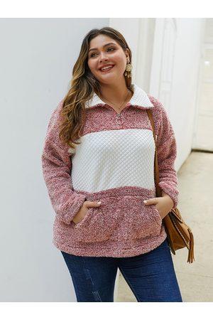 YOINS Side Pockets Color Block Sweatshirt