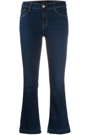 J Brand Cropped flared jeans