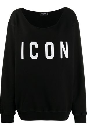 Dsquared2 One-shoulder logo-print sweatshirt