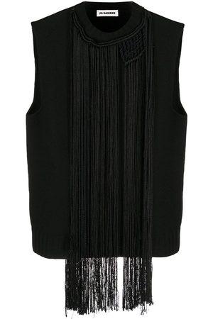 Jil Sander Macramé-necklace vest