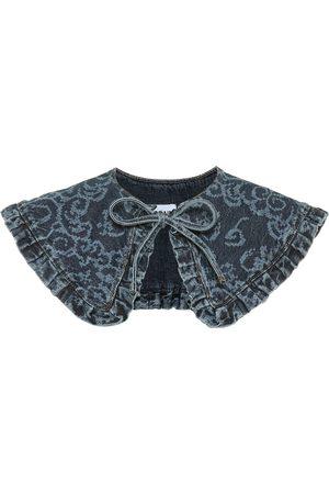 Ganni Printed denim collar