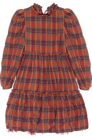 Il gufo Checked stretch-cotton dress