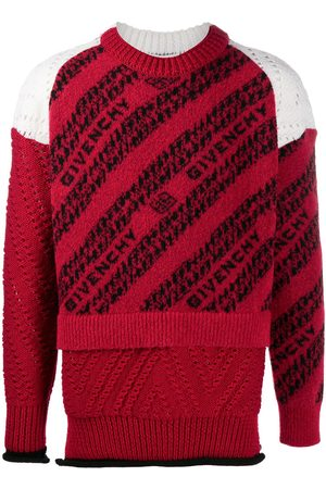 Givenchy Intarsia-logo layered-effect jumper