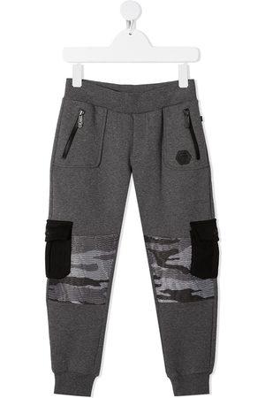 Philipp Plein Camouflage-patchwork track pants