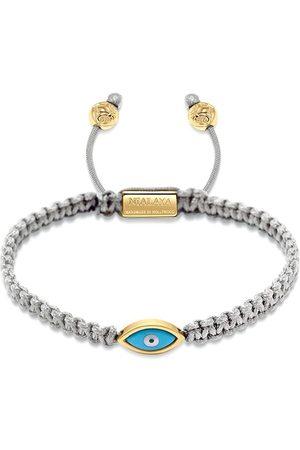 Nialaya Men Bracelets - Gold plated eye weave bracelet