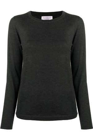 Brunello Cucinelli Women Jumpers - Crew neck cashmere jumper