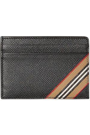 Burberry Icon-stripe grained cardholder