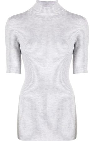 Brunello Cucinelli Roll neck ribbed knit jumper