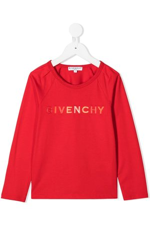 Givenchy Logo print long sleeved T-shirt