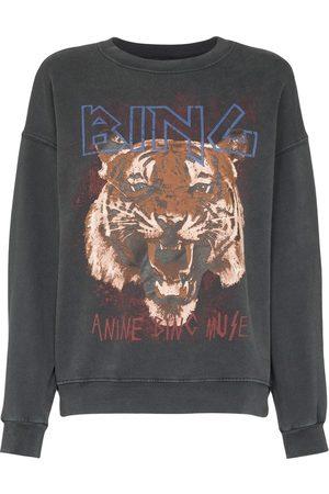 ANINE BING Tiger's head print sweatshirt