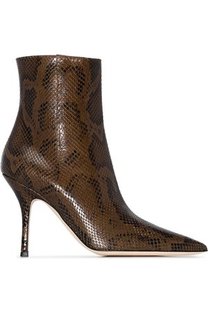 PARIS TEXAS Mama snakeskin-effect 95mm ankle boots