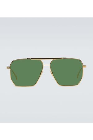 Bottega Veneta Metal-frame sunglasses