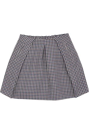 BONPOINT Checked wool-blend skirt
