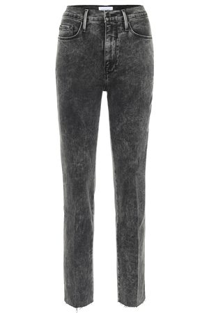 Frame Women High Waisted - Le Sylvie high-rise straight jeans