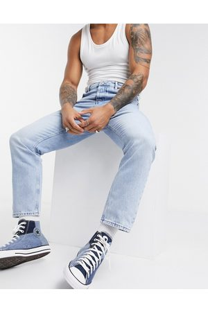 ASOS Relaxed tapered jeans in light stone wash