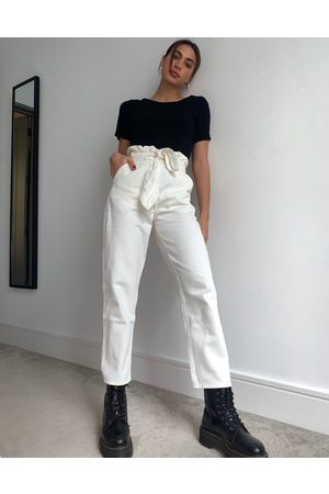 & Other Stories Odette belted tapered jean in off