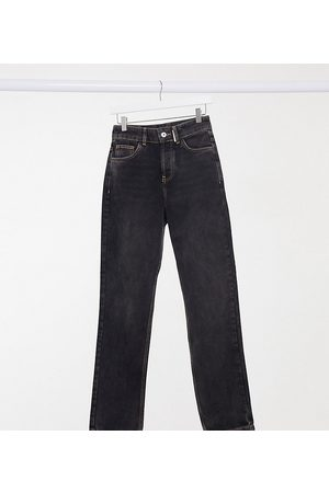 COLLUSION X000 Unisex 90's fit straight leg jeans in washed