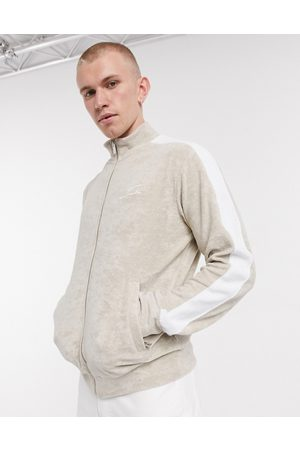 The Couture Club Co-ord track jacket with contrast panel in