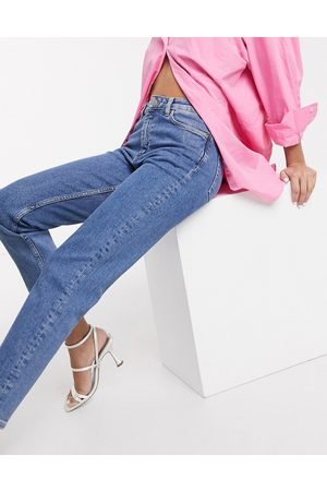 & OTHER STORIES Baix organic cotton mid rise slim leg jeans in light