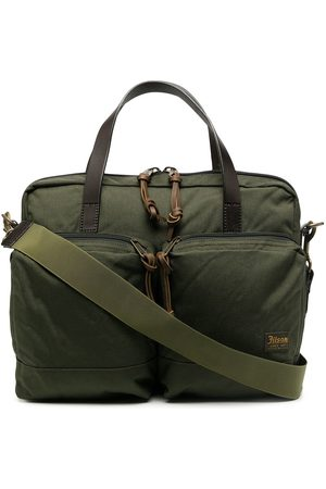 Filson Dryden logo patch briefcase
