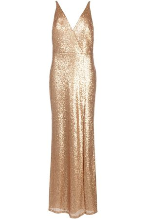 Marchesa Notte Sequined V-neck bridesmaid dress
