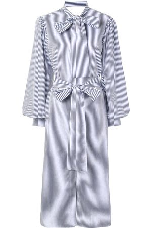 Msgm Striped midi shirt dress