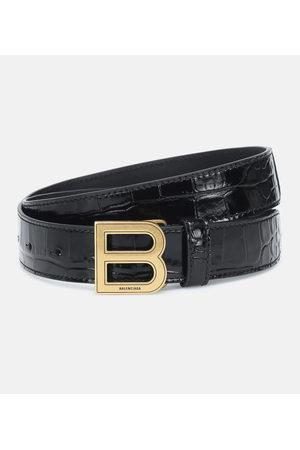 Balenciaga Hourglass croc-effect leather belt