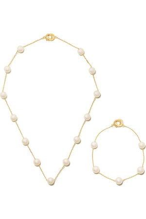 Tasaki 18kt yellow Akoya pearl necklace