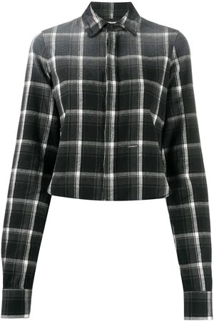 Dsquared2 Check-pattern cropped shirt