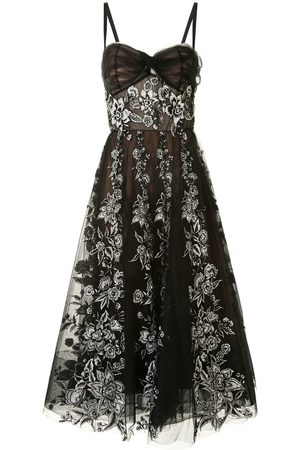 Marchesa Floral embroidered tulle dress